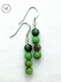 Chrysoprase dangle Earrings